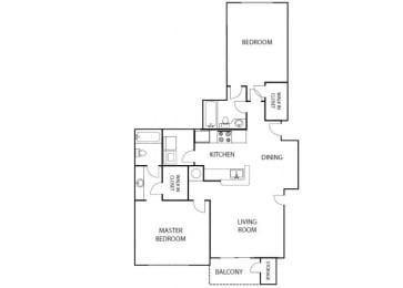 Destiny 2 bedroom 2 bath bay club apartment homes Jacksonville florida