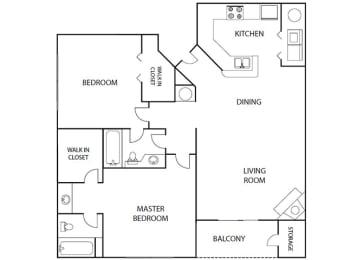 Elm 2 bedroom 2 bath bay club apartment homes Jacksonville florida