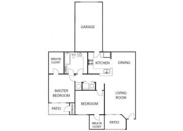 Camelia 2 bedroom 1 bath bay club apartment homes Jacksonville florida