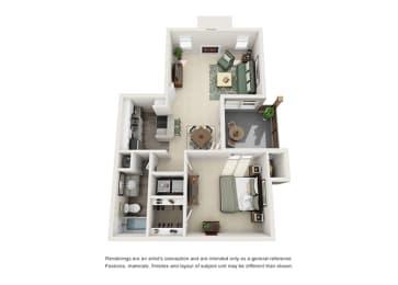 A4 | 1 Bedroom | 1 Bath | 686 sq. ft.