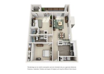 B4 | 2 Bedrooms | 2 Baths | 1,014 sq. ft.