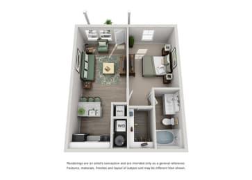 Grand Reserve of Naperville Apartment Homes  1 Bedroom 1 Bath