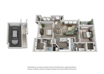 Grand Reserve of Naperville Apartment Homes 2 Bedroom 2 Bath