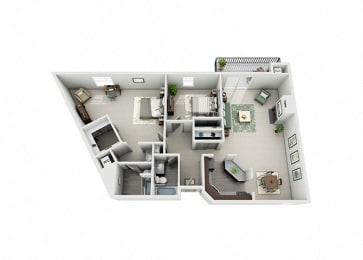 Meridian Pointe Apartment Homes - 2 Bedroom 2 Bath Apartment