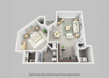 Perimeter 5550 Apartment Homes - 1 Bedroom 1 Bath Apartment