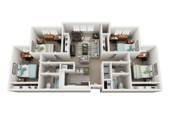 Floor Plan 4 Bedroom 2 Bathroom