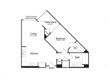 Clarendon Apartments|Ventura 1|1x1 705sf