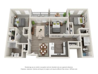 Laurel 3 Bed 2 Bath Floor Plan at 24 at Bloomfield, Bloomfield Hills, 48304