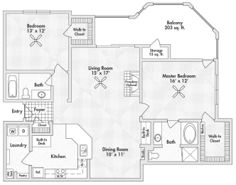 two bedroom apartments by frisco, opens a dialog