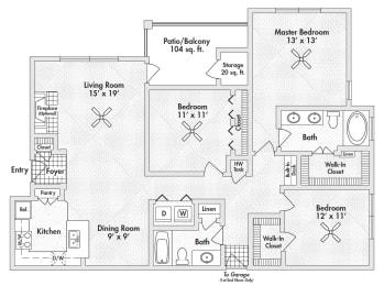 75305 three bedroom apartments