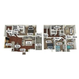Floor Plan 5 Bed | 2 Bath, opens a dialog