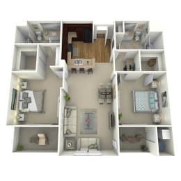 The Lane Floor Plan Layout at Meridian Place, Northridge, CA, 91324