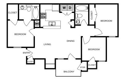 Floor plan image, opens a dialog