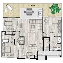 The Haven Floor Plan at Avilla Lehi Crossing, Arizona, 85213