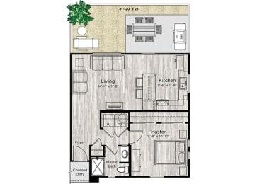 The Alcove Floor Plan at Avilla Heritage, Grand Prairie, TX, 75052