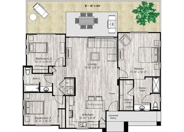 The Haven Floor Plan at Avilla Heritage, Grand Prairie, 75052