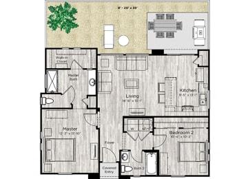 The Retreat Floor Plan at Avilla Camelback Ranch, Arizona
