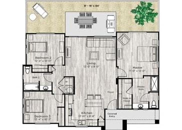 The Haven Floor Plan at Avilla Camelback Ranch, Phoenix, 85037