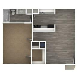 Floor Plan 1 Bedroom | A