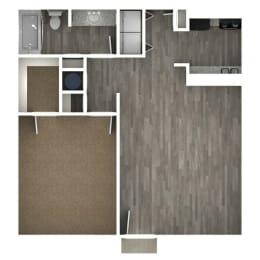 Floor Plan 1 Bedroom | B