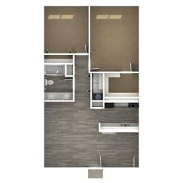 Floor Plan 2 Bedroom | F