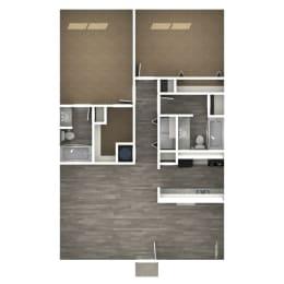 Floor Plan 2 Bedroom | H
