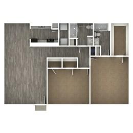 Floor Plan 2 Bedroom | I