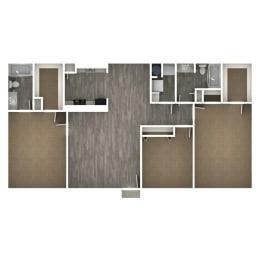 Floor Plan 3 Bedroom | J