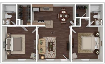 Floor Plan 2 Bed | 2 Bath A