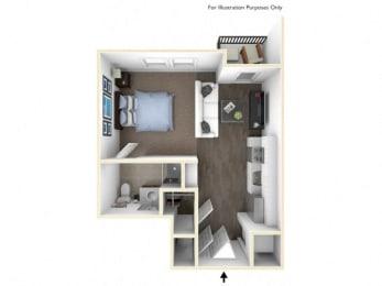 275.S-A 3D Floor Plan at The George & The Leonard, Atlanta