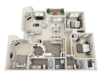 Mohave Floor Plan Layout at Village at Desert Lakes, Las Vegas, Nevada, opens a dialog