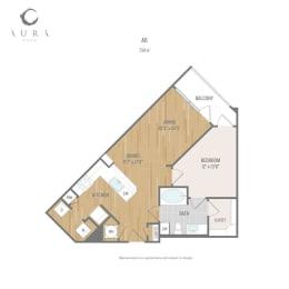 Aura One90 Apartments A6 Floor Plan
