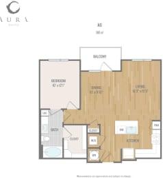 Aura One90 Apartments A8 1 Floor Plan