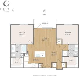 Aura One90 Apartments B2 Floor Plan