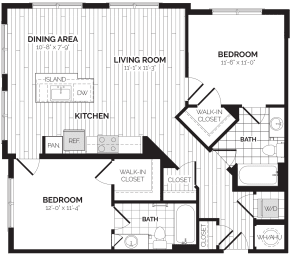 B5 Floor Plan at Rivergate, Woodbridge, 22191