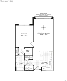 A3a Floor Plan at 800 Carlyle, Virginia, 22314