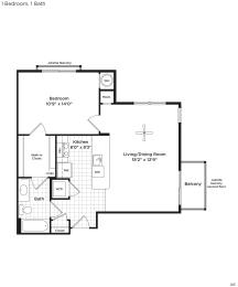 A6a Floor Plan at 800 Carlyle, Alexandria, Virginia