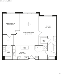 B10b Floor Plan at 800 Carlyle, Virginia, 22314, opens a dialog