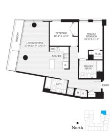 Floor Plan Faraday b04a