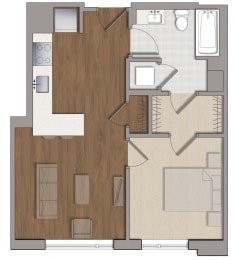 A6 Floor Plan at The George, Wheaton, MD, 20902