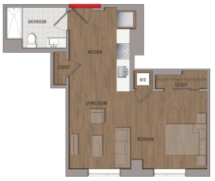 S8 Floor Plan at The George, Wheaton, Maryland