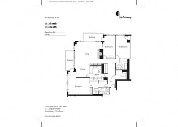 Floor Plan 3 Bedroom Penthouse