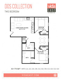 Floor Plan Dos Collection (Two Bedroom, B2)