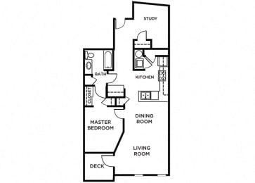 Orcas Floor Plan at The Pacifica, Tacoma