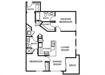 Vashon Floor Plan at The Pacifica, Washington