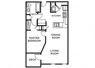 Whidbey Floor Plan at The Pacifica, Tacoma, Washington