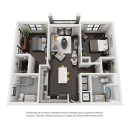 Floor Plan B1A-B