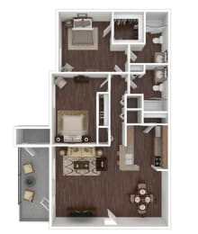 Floor Plan 2 Bedroom 2 Bath, opens a dialog