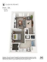 Flint Floor Plan at Clovis Point, Longmont, CO