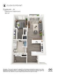 Gypsum Floor Plan at Clovis Point, Longmont, 80501